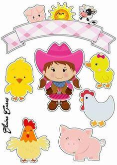 Disney Babies: Free Printable Frames or Invitations. Farm Animal Party, Farm Party, Cardboard Crafts, Paper Crafts, Kawaii Cross Stitch, Birthday Flags, Printable Frames, Farm Theme, 3rd Baby