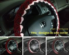 Crochet Crafts, Hand Crochet, Car Steering Wheel Cover, Crafts To Make And Sell, Diy Craft Projects, Hobbies And Crafts, Car Accessories, Bellisima, Knitting