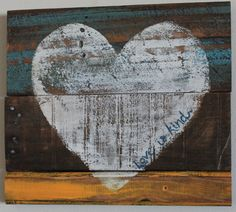 Love is Kind Heart Wall Decor Painted on by BeyondAPicketFence