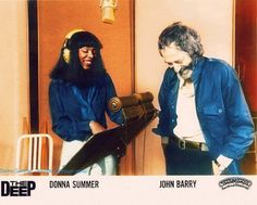 "Donna Summer and John Barry, Publicity photo for ""The Deep"", circa 1977"
