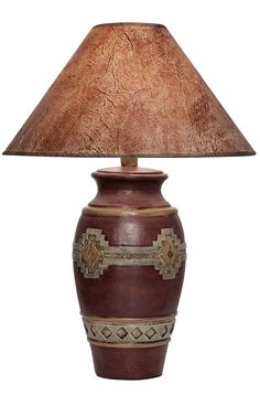 Desert Collection Lamp 188WC Western Lamps - From our Made in the USA Desert Collection. Native American inspired geometric design with dark finish.