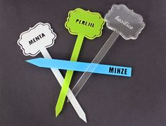 Garden Stakes... Make different signs for herbs or plants with your laser. Download free Laser cutting and Laser Engraving files!