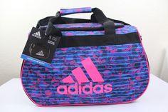 adidas diablo small duffel sport gym bag women 18.5