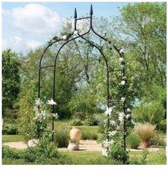BLACK Archway Wedding GOTHIC Arch Reception Decor Arbor Prom Party Garden Patio #Gardman
