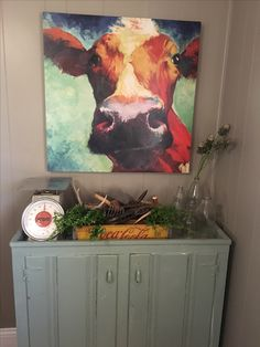 Cow Picture With Farmhouse Decor Kitchen Western