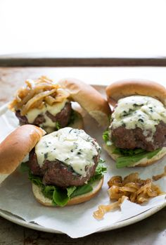 French Onion Blue Cheese Sliders