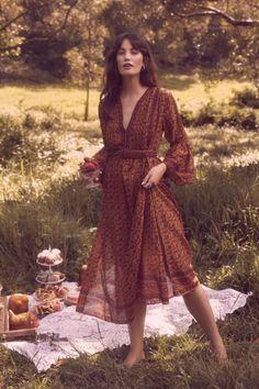 Bohemian style 70's dress