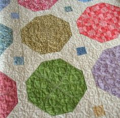 ADORABLE scrappy snowball quilt (She has a tute) And I LOVE LOVE LOVE her quilting on this.