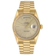 Rolex President Day-Date Men's 18k Gold Watch Model 18238 - Automatic winding   Portero Luxury
