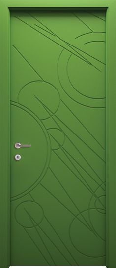 Cool Pop of Color Mdf Doors, Fence Doors, Entrance Doors, Windows And Doors, Wooden Glass Door, Wooden Doors, Contemporary Doors, Modern Door, Cool Doors