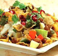 Normally corn flakes are taken in morning breakfast with milk or yogurt. If you are board with same cornflakes recipe here is a home made tempting and healthy recipe of corn flakes chaat. This recipe is full of vegetables so full of vitamins. And of course very easy and quick to prepare, so an ideal break fast recipe.