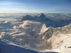 Makalu as viewed from the Summit of Mount Everest, 2009.