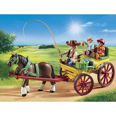 6932-Calèche avec attelage Playmobil Playmobil : <p>C'est une journée idéale pour faire une <strong>promenade en calèche</strong>.<br /><br />Le <strong>cheval</strong> est lui&n...King Jouet, retrouvez tout l'univers, Playmobil - Jeux d'imitation & Mondes imaginaires