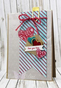 Nicole Wilson Independent Stampin' Up!® Demonstrator - Caseing the Catty Challenge CTC114 Sending Love Suite, Glassine Bag, Sealed with Love Bundle, Crumb Cake, Bermuda Bay, Real Red and Whisper White www.facebook.com/NicoleWilsonStamp #stampinup #love #valentines #CTC114 #occasions