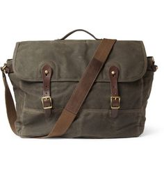 Abingdon Waxed Cotton-Canvas and Leather Messenger Bag