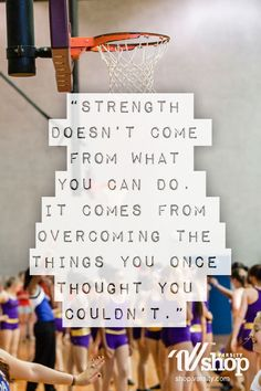 Strength doesn't come from what you can do but from overcoming what you once thought you couldn't.