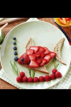 Strawberry fish sandwich healthy kids snack