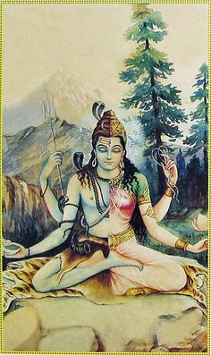 Shiva in male and female aspects.
