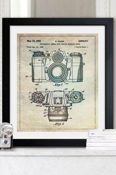 """Oliver Gal """"Sauer Camera 1962"""" Framed Art Print"""