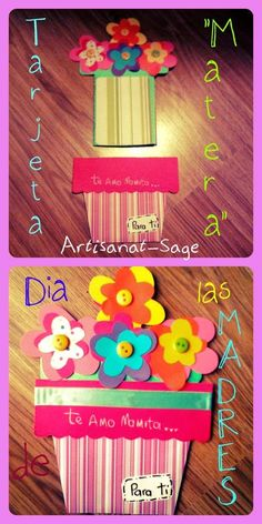 Tarjeta (estilo matera) para el dia de las madres o dia de la mujer