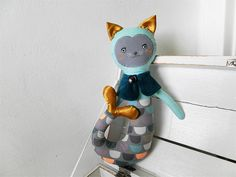Cat mermaid doll / Břichopas toys