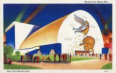 1939 New York World's Fair Postcard - World's Fair Music Hall