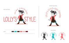 Kids fashion logo - Fun children logo - Kids logo - Fashionable kids - Kids clothes logo - Little girl illustration - Character illustration