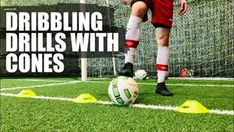Soccer Dribbling Drills with Cones Soccer Dribbling Drills, Cone Drills, Soccer Tips, Best Player, Improve Yourself, How To Become, Football, Teaching, Defenders