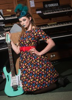 Guitar Dress by Silly Old Sea Dog in UK sizes 6-24