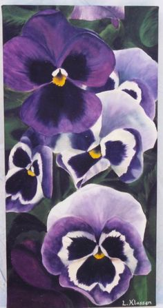 pansies acrylic on canvas