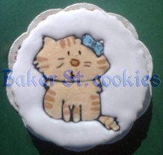 Киса, кот, рыжий, полосатый, бантик, печенье, айсинг, Херсон, Украина.