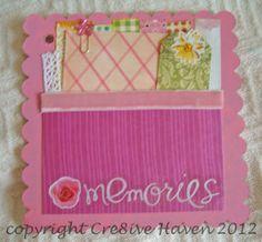 Memories baby girl mini album page