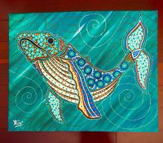 Whale painting, whale original art, humpback whale painting, whale gift, Australian artist, Original whale art, Aline Cross Art, Whale Drawing, Whale Painting, Dot Painting, Kunst Der Aborigines, Mandala Art Lesson, Whale Art, Cross Art, Acrylic Artwork, Sea Art