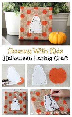 Kids Lacing Craft {Printable Template}