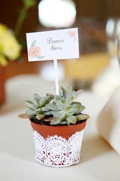 When you love succulents as much as I do, weddings like this gorgeous Rocklege gem have a tendency to brighten your day. Brighten your day in a way that only sunny yellow bouquets filled with succulents can do. And when the bride Succulent Wedding Favors, Cactus Wedding, Wedding Favours, Diy Wedding, Wedding Gifts, Wedding Flowers, Wedding Ideas, Succulent Pots, Succulents Diy