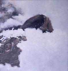 Artist: Zoltán Béla - Inevitable 3 24 x 24 cm, oil on canvas