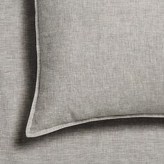 Vintage Washed Linen Grey Marle Sheet Separates