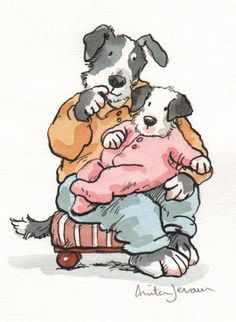 Anita Jeram well captures a daddy and his daughter -- the love and the security. LOVE!