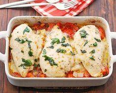 Easy Chicken Tomato Casserole