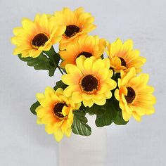 Yellow Silk Sunflower Heads Wedding Decoration Fake Flores Artificial Flower - Sunflower - Ideas of Sunflower - Yellow Silk Sunflower Heads Wedding Decoration Fake Flores Artificial Flower Price : Giant Sunflower Seeds, Sunflower Leaves, Sunflower Bouquets, Silk Flower Bouquets, Flower Bouquet Wedding, Silk Flowers, Floral Wedding, Fake Flowers, Artificial Flowers