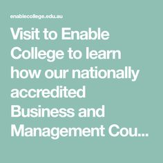 Visit to Enable College to learn how our nationally accredited Business and Management Courses can help boost your career. Right To Education, Mba Degree, Education And Training, Community College, Enabling, Business Management, Career, Student, Learning