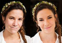 Braut Make-up – Hochzeitsfotograf Long To Short Hair, Short Hair Styles, Bride Makeup, Wedding Makeup, Sweetheart Wedding Dress, Wedding Dresses, Before After Hair, Show Beauty, Braut Make-up