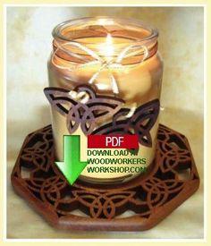 Celtic Trinity candle tray, Beautiful!!