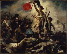 Eugène DELACROIX  Le 28 Juillet. La Liberté guidant le peuple (28 juillet 1830)