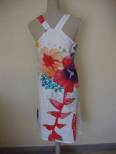 Grey Cherries: Swedish apron dress G SDB2