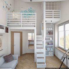 Una habitación juvenil de altura Más #GirlsBedroom