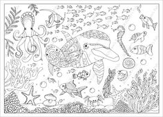 Underwater World Colouring Page (Downloadable page)