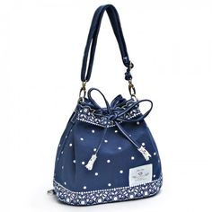 Finally! I found the Fresh Bow Lace Polka Dot Drawstring Shoulder Bag Messenger Bag Backpack from ByGoods.com. I like it so so much!