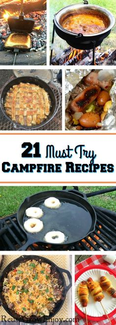 Taking a camping trip and wondering what recipes for camping are good to try? Check out these 21 must try campfire recipes to give you some ideas.