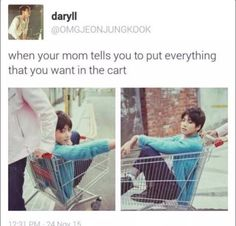 """Me: """"MUM ITS JUST ONE THING COME ON!!"""" #Jungkook #Bts #Kookie #Kpop credit to owner :)"""